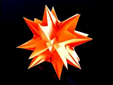 How to quickly make an Origami Kusudama or Кусудама