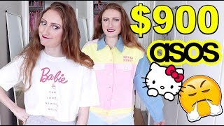 I SPENT $900 AT ASOS!! HAUL AND TRY ON: HELLO KITTY COLLECTION + MORE!