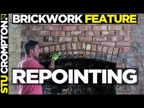how to point brick wall chimney breast, bricklaying tutorial