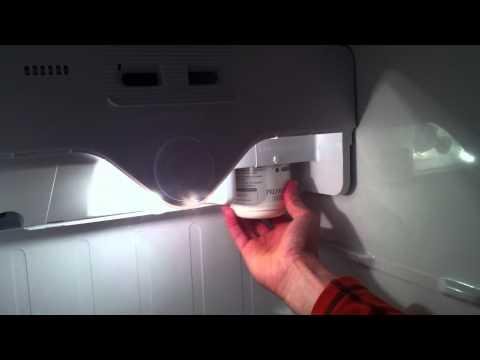 Wasser Filter vom Kühlschrank LG entfernen - Water Filter from LG fridge remove