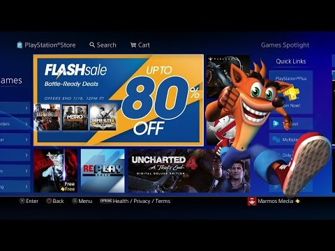 PS4 Flash Sale July 2016 Up To 80% Off Digital Games and Movies!