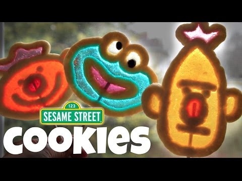 SESAME STREET Lollipop Cookies (ft. my son's voice as Cookie Monster) | COOKIE'S FAMOUS COOKIE DOUGH