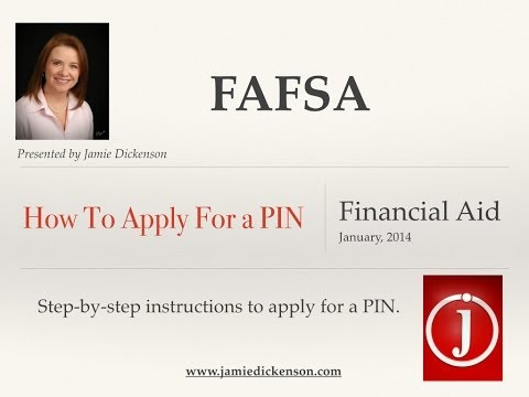 How to apply for a FAFSA PIN