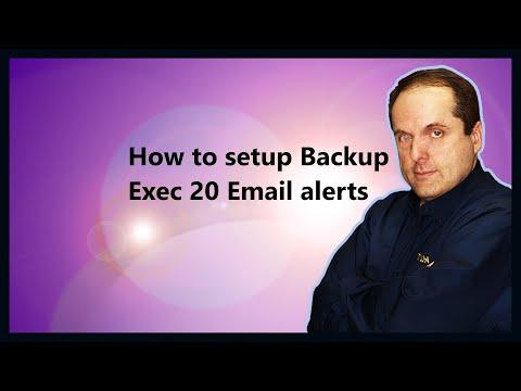 Backup Exec 20 Setup Email alerts