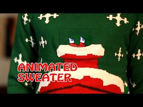 MorphDigitalDudz - Stuck in Chimney ANIMATED Christmas Sweater