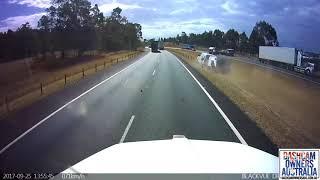 Driver veers into crash barrier - Sydney NSW