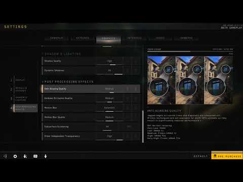 How to Disable Order independent transparency in Black Ops 4