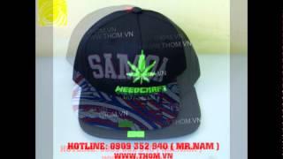 Nhận may nón, sản xuất nón theo yêu cầu, sản xuất nón cáp, nón hiphop, nón thêu 3d