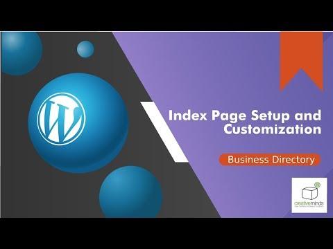 WordPress Business Directory Plugin Index Setup