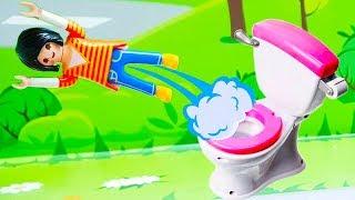 Мультики с игрушками - Волшебный туалет! Новые игрушечные мультфильмы