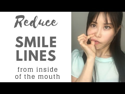 Massage smiles lines from inside of the mouth to reduce wrinkles