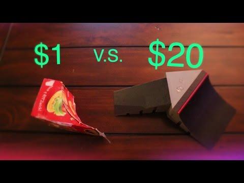 $1 FINGERBOARD RAMP VS $20 FINGERBOARD RAMP