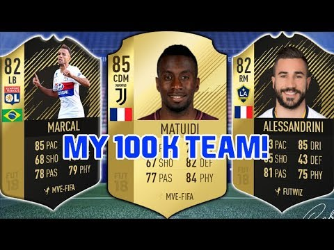 FIFA 18 - THE BEST 100K SQUAD??? ( FIFA ULTIMATE TEAM )