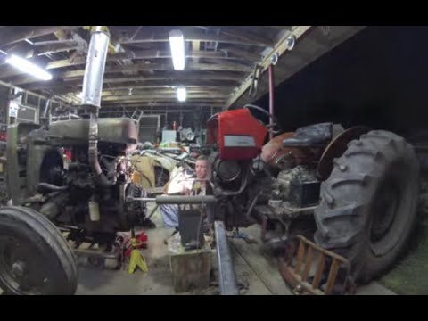 Breaking a Tractor In Half - Clutch Repair