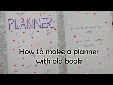 How to make planner with old book   DIY   Niya kumar