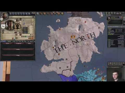 [Twitch] CK2 A Game of Thrones Mod - 2. Bölüm - The Young Wolf Türkçe
