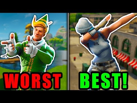 RANKING EVERY EMOTE FROM WORST TO BEST! (Fortnite Battle Royale)