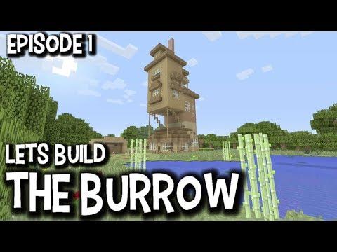 Lets Build The Burrow Episode 1 - Harry Potter Lets Build Minecraft