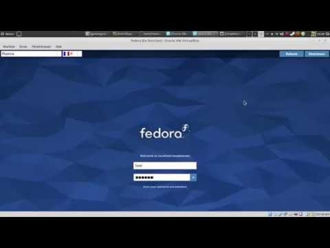 Fedora interface basique et principe de la ligne de commande