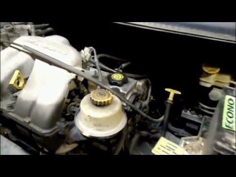 2003 Dodge Caravan 2.4 Oil pan removal. Easy to do.