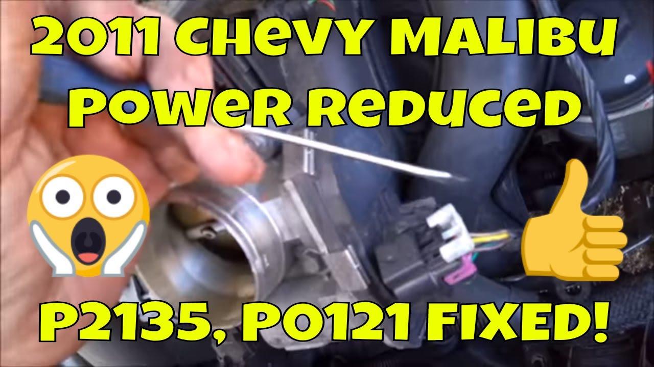 2011 Chevy Malibu p2135 p0121 Power Reduced Mode - Fix it -