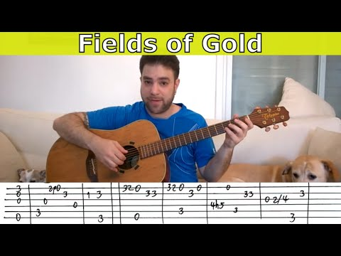 Fingerstyle Tutorial: Fields of Gold - Guitar Lesson w/ TAB