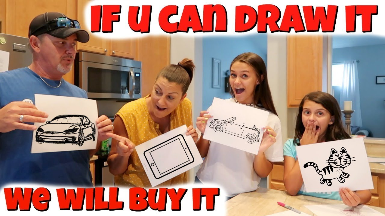 Whatever you Draw, I Will BUY It -Challenge! Emma and Ellie