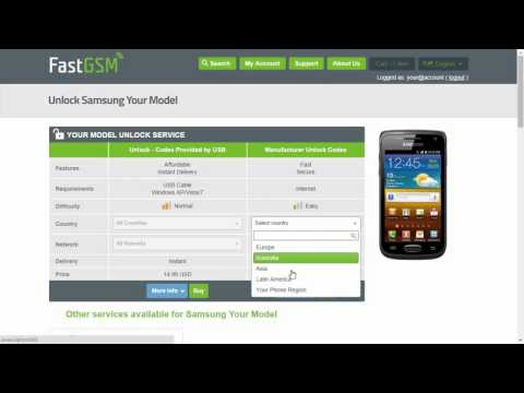How To Unlock Samsung Galaxy W by Unlock Code