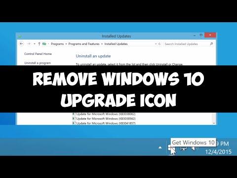 Remove Windows 10 upgrade icon on Windows 7/8.1