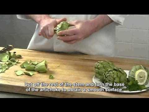 artichoke removing heart