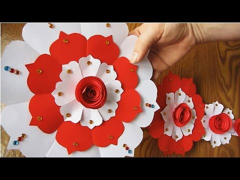 DIY. Paper Craft. Paper Design For Special Occasion. Color Paper Wall Hanging