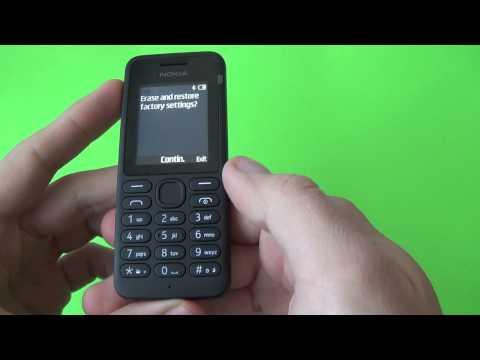 Nokia 130 factory reset