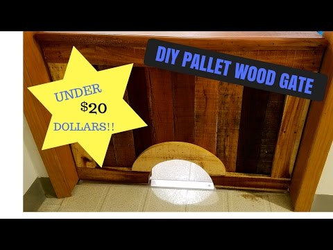 How To Build A Rustic Pallet Wood Gate