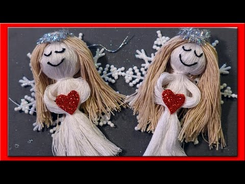 DIY Snow Angel Christmas Ornaments