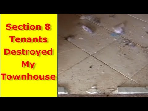 Section 8 housing tenant from hell caused $13,000 damage to my rental Section 8 houses Part 1