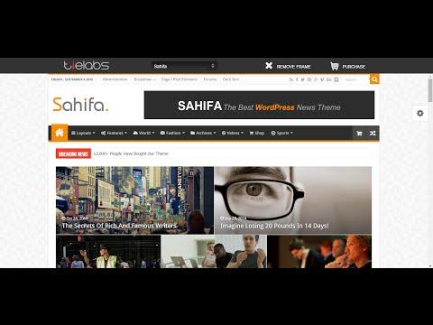 How to customize menu in sahifa theme wordpress - lesson 2