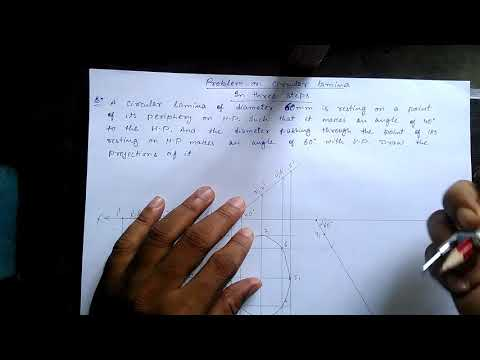 Problem of circular lamina in projection of plane
