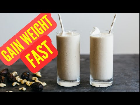 Gain weight Very Fast with this Homemade Shake 2018