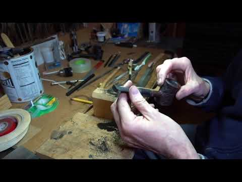 Replacing a High Grade Pipe Stem PART 9 -- Hand tool shaping B