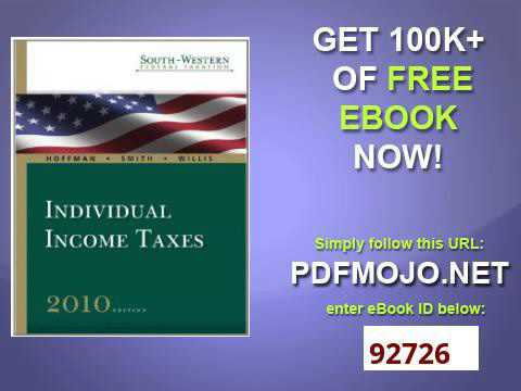 South Western Federal Taxation 2010 Individual Income Taxes with TaxCut Tax Preparation Software CD