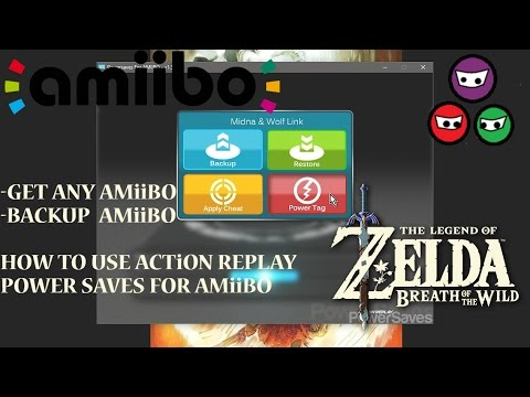 How to use Action Replay Power Save | Amiibo | Back up Amiibo | Download Amiibo | Fierce Deity Armor