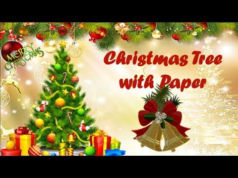 How to make Paper Christmas Tree/ Artificial Christmas Tree Decoration