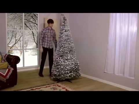 Flocked Pop Up Christmas Tree