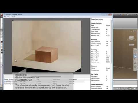 Understanding AutoCAD Global Illumination and Final Gather