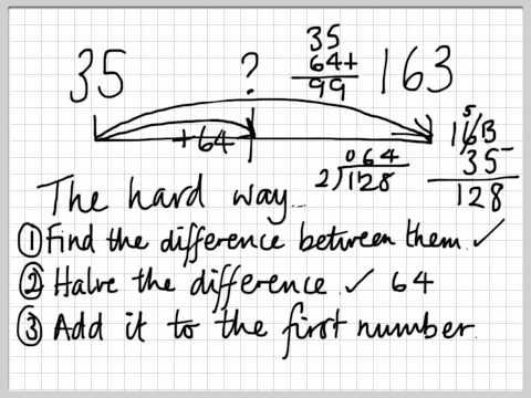 H1 finding halfway between 2 numbers