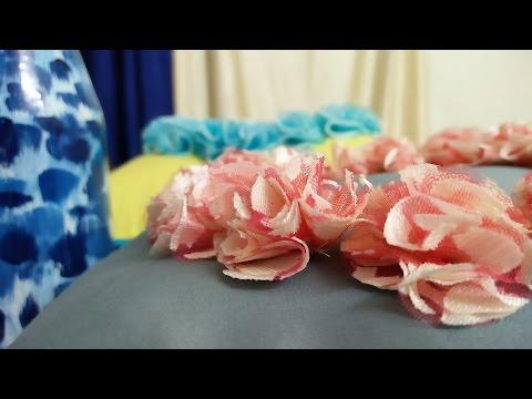 DIY: Cushion Cover Design (Net Flower) in Hindi [English subtitles]