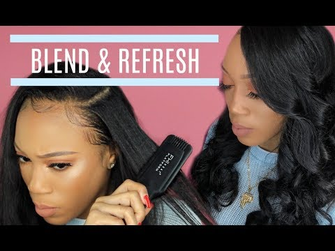NATURAL QUICKWEAVE How to Blend Leave Out & STYLE   VirginHairFixx