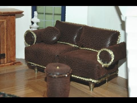 Sofa. How to Make a Miniature Sofa 1:12 Dollhouse by Garden of Imagination GOI