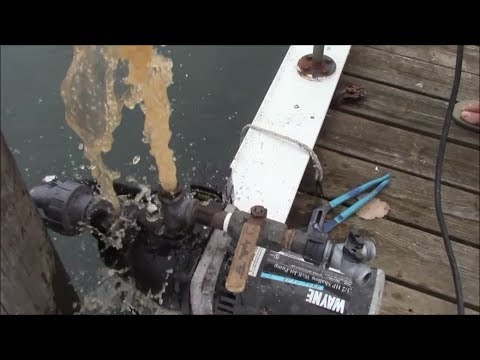 Seawall pump tips, trick to prime using a check valve and foot valve