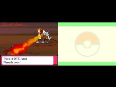 Pokemon Heart Gold - Catching Entei with a Pokeball